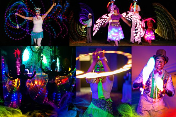 Roaming LED Dancers