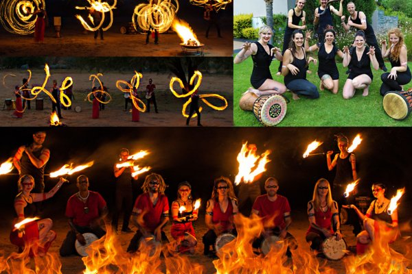 Fire Dancing and Drumming Show