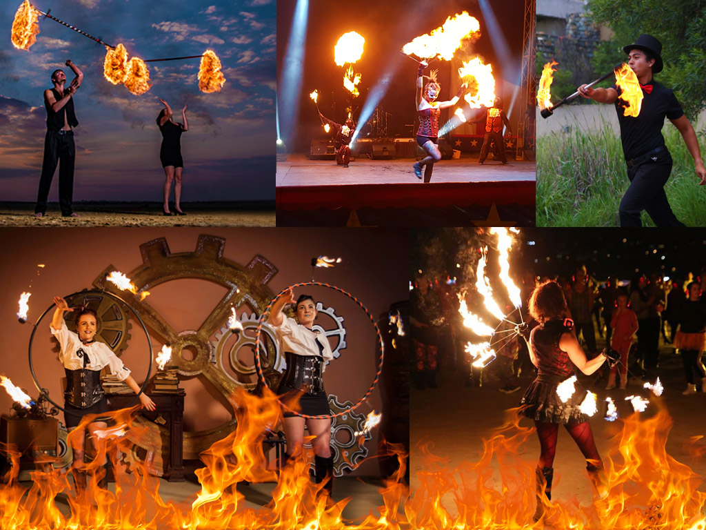 best fire dancing show for main attraction