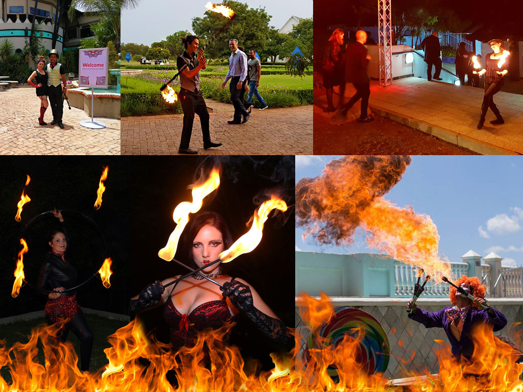 get the vip treatment with live fire dancers and fire breathers to welcome your guests on arrival