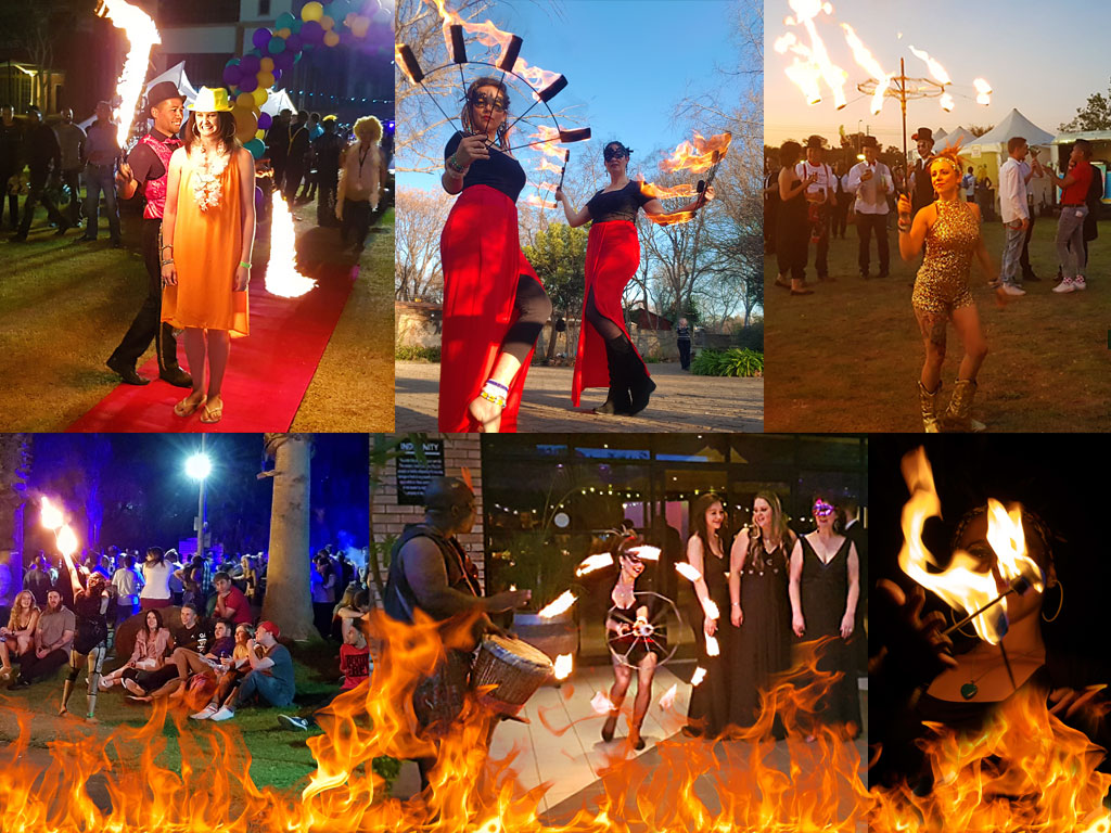 roaming fire dancers to start a vibe and create an atmosphere