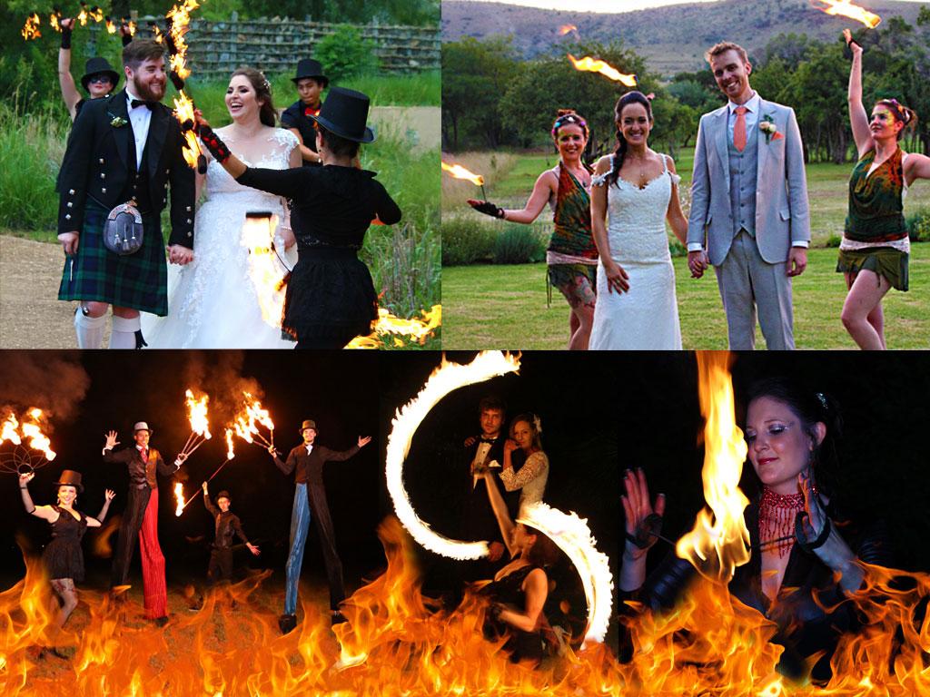 grand entrance with fire dancers unique wedding entrance ideas