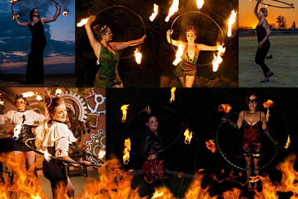 Fire Hooping Hunnies