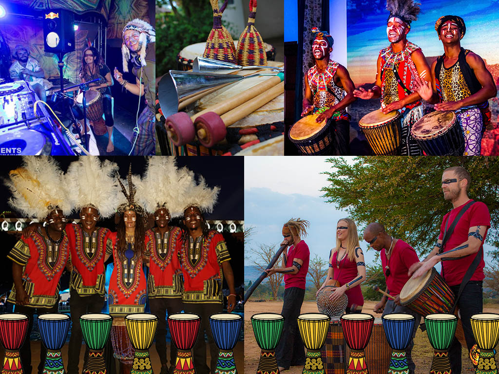 Traditional African Djembe Drummers to hire for Event Entertainment